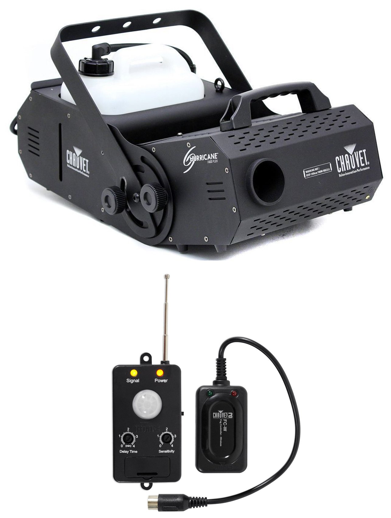 Chauvet HURRICANE H-1800 FLEX Fog Smoke Machine H1800+Transmitter Motion Sensor