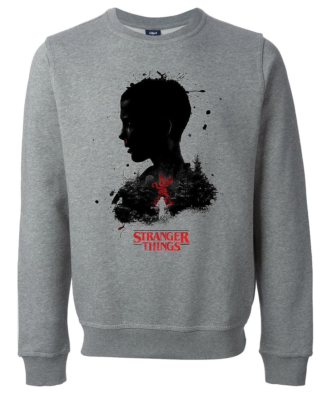Stranger Things Portrait Black Splashed Fan Art Unisex Sweatshirt