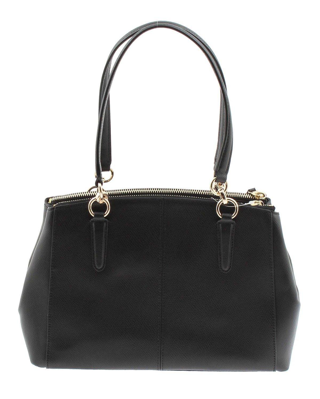 COACH Crossgrain Leather Christie Carryall Shoulder Bag Handbag Black 36606 by Coach (Image #2)