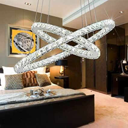 ChandeliersLed Neutral Light ChandelierCrystal Glass Chandelier Pendant Ceiling Lighting Fixture With Two