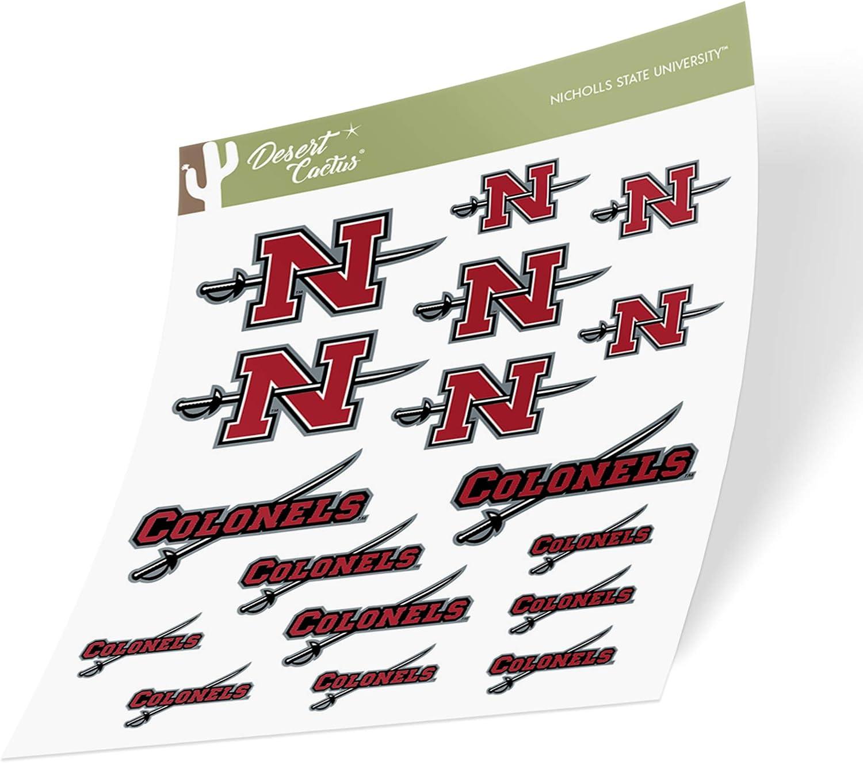 Type 1-1 Sheet Nicholls State University Colonels NCAA Sticker Vinyl Decal Laptop Water Bottle Car Scrapbook