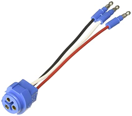 6b1a782d0240e Amazon.com: Grote 66815 Stop Tail Turn Three-Wire Plug-In Pigtails for Male  Pin Lights: Automotive