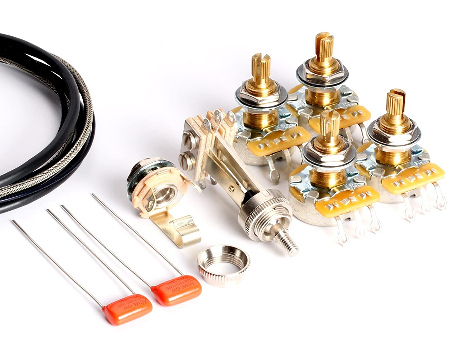Amazon.com: ToneShaper Guitar Wiring Kit, for Les Paul Standard ...