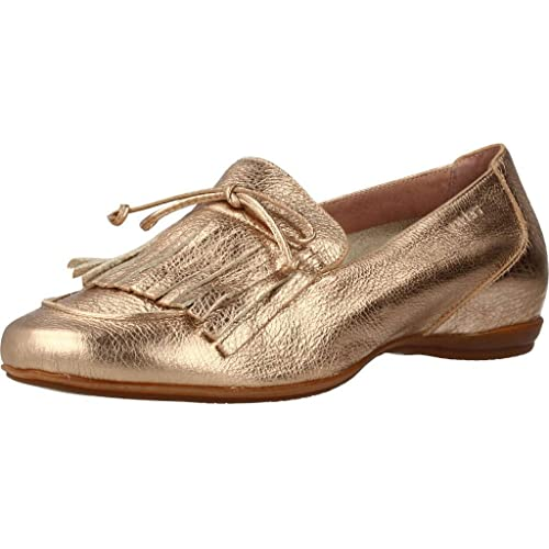 Mocasines para Mujer, Color Gold, Marca WONDERS, Modelo Mocasines para Mujer WONDERS A3091 Gold: Amazon.es: Zapatos y complementos
