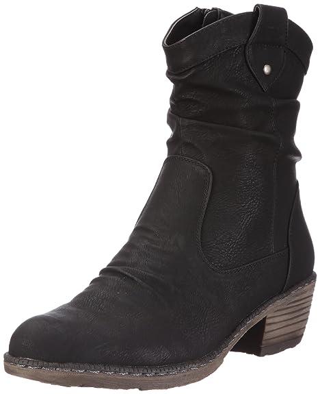 Rieker 93770-00 93770-00 - Botines fashion para mujer, Negro, 37: Amazon.es: Zapatos y complementos