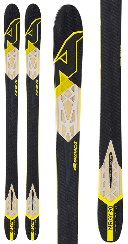 Nordica NRGY 90 Skis Black Mens