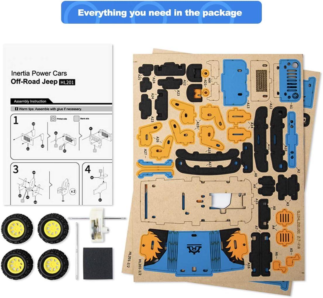 ROBUD Inercia Coche Maquetas de Madera Puzzle 3D Maquetas Madera Kits para  5 Años en Adelante: Amazon.es: Juguetes y juegos