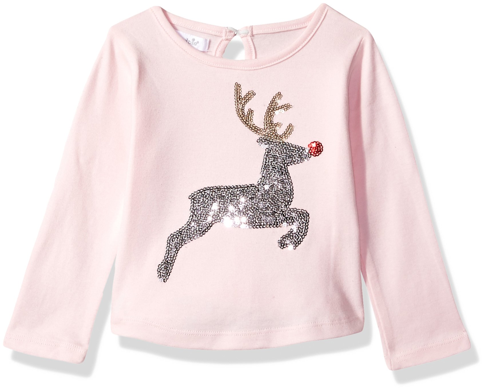 Mud Pie Baby Girls' Toddler Christmas Holiday Long Sleeve T-Shirt, Reindeer, MED/ 2T-3T by Mud Pie