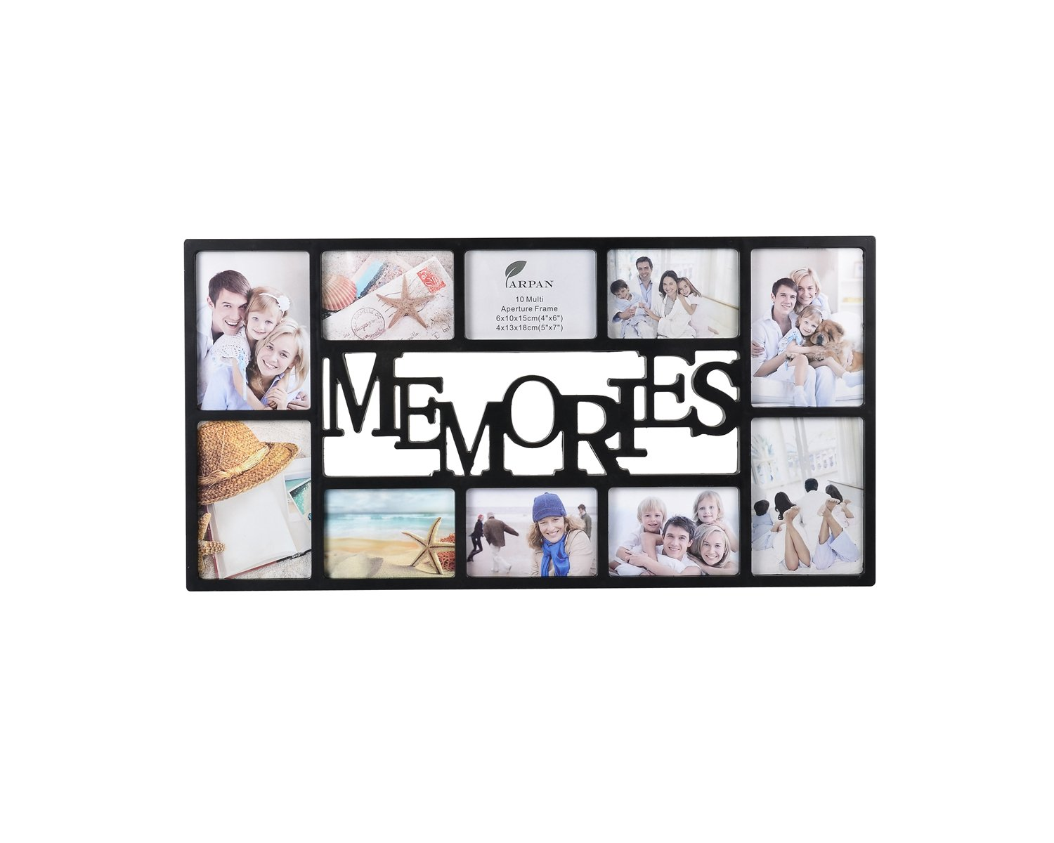 Arpan Memories 10 Multi Aperture Photo Picture Frame - Holds 6 X 6 ...