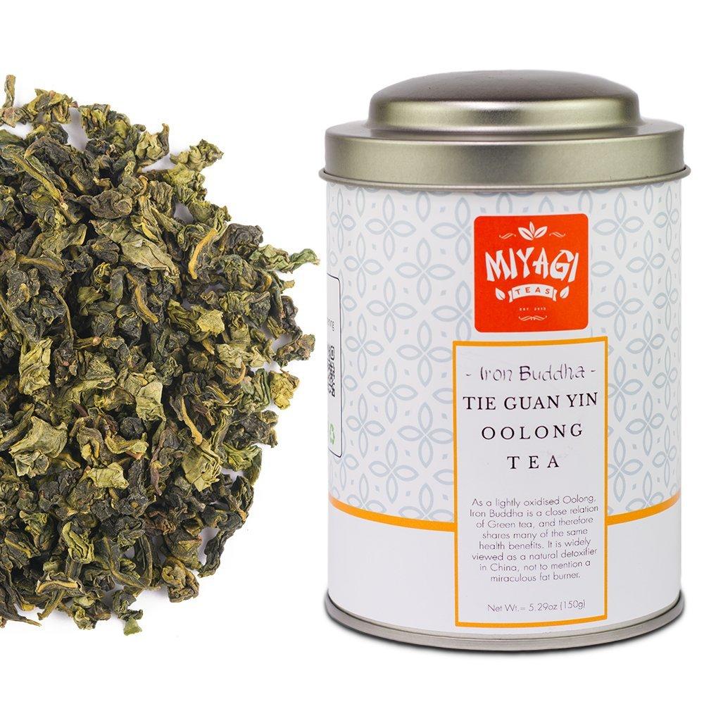MIYAGI TEA - Iron Buddha - Tie Guan Yin - Premium Quality Oolong Tea - 5.29oz (150g) / tin can