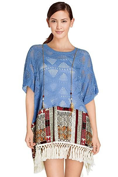 Cherry Paris – Promo vestido túnica Norah estilo bordado y estampado étnico con manga amples corta
