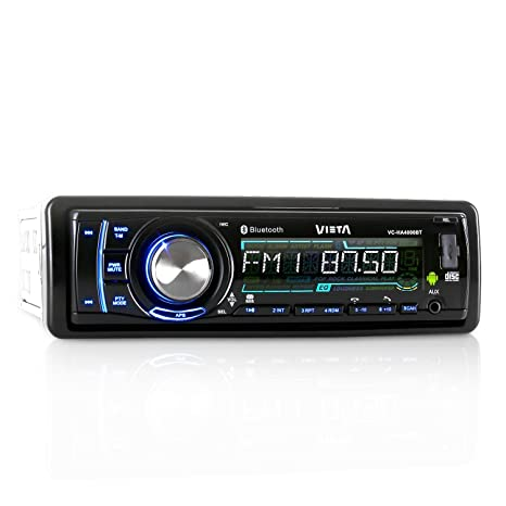 Vieta VC-HA4000BT Android radio para coche con Bluetooth (MP3-CD, app-control, FM-radio, SD-USB: Amazon.es: Electrónica