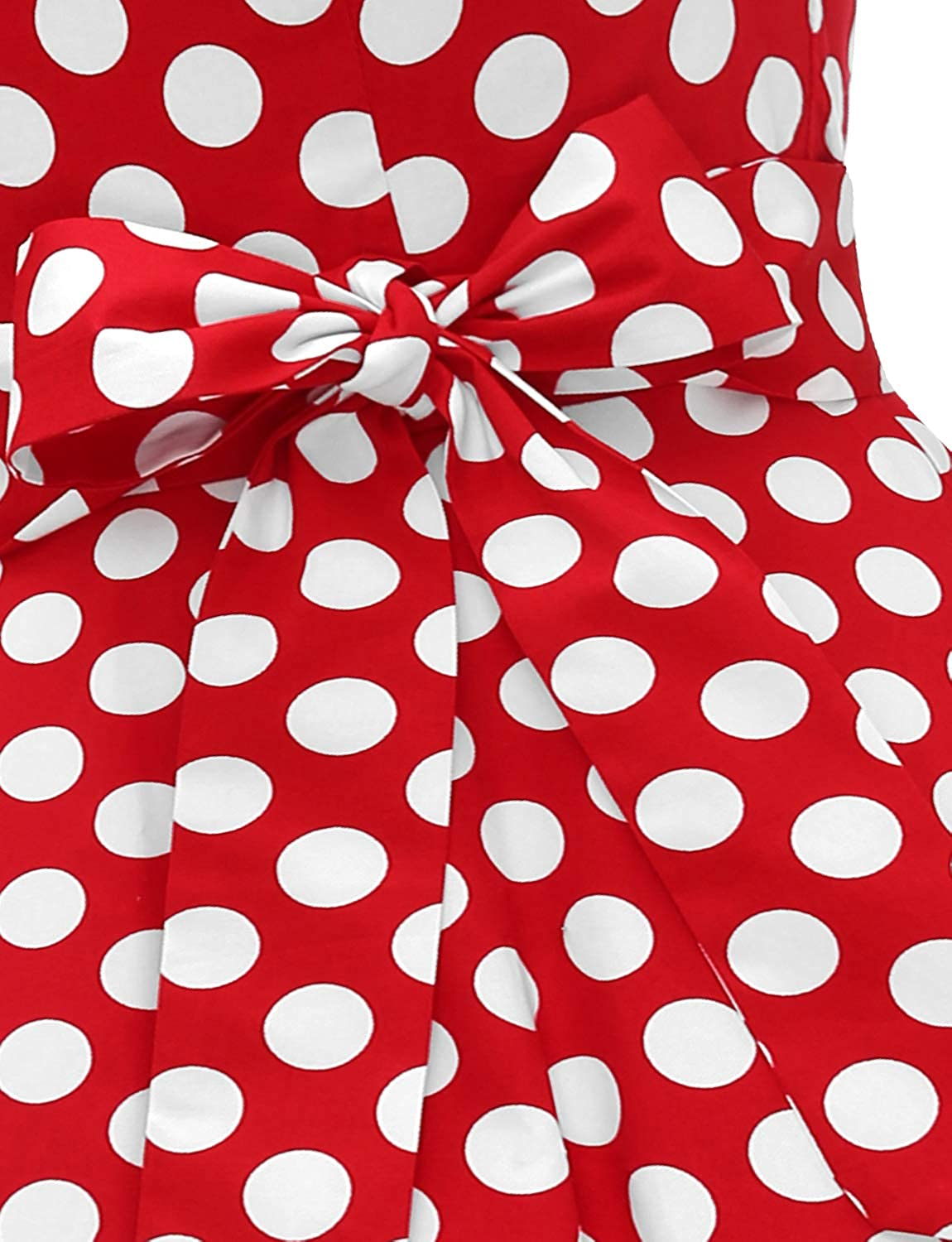 Dressystar Vintage 1950s Polka Dot and Solid Color Prom Dresses Cap-Sleeve