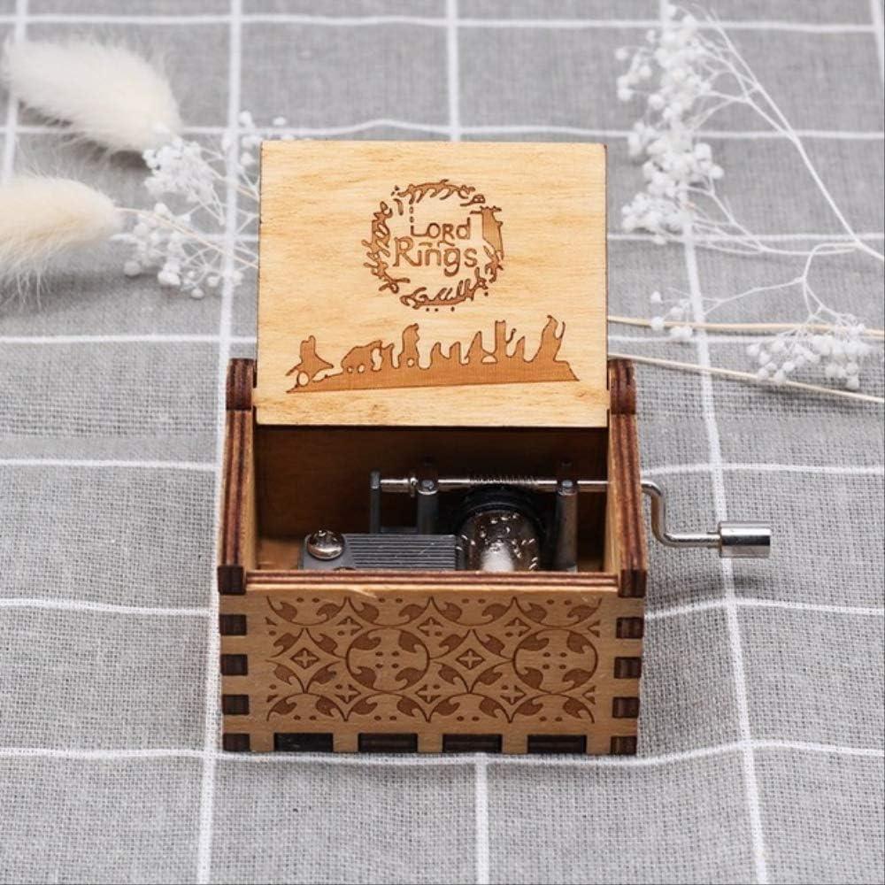 LYXL Caja Musica Niña Talla De Madera Caja De Música Queen Hecha A Mano Navidad Bebé Cumpleaños Feliz Regalo Caja De Música Temática Dragon Ball señor de los Anillos: Amazon.es: Hogar