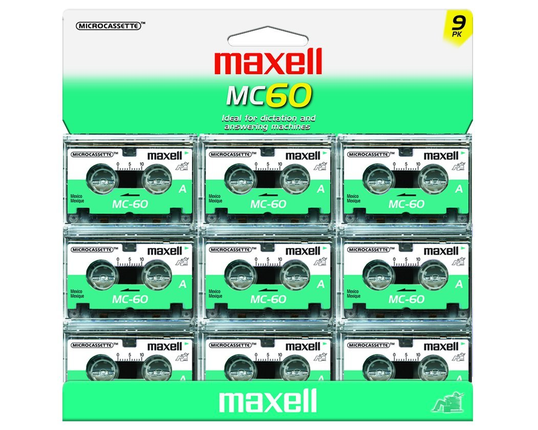 Maxell MC-60 UR Microcassettes (Pack of 9) by Maxell