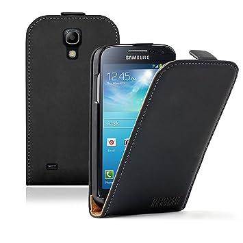 Membrane - Negro Funda Carcasa Compatible con Samsung Galaxy S4 Mini (GT-i9190 / i9192 Dual Duos / i9195 LTE) + 2 Protector de Pantalla