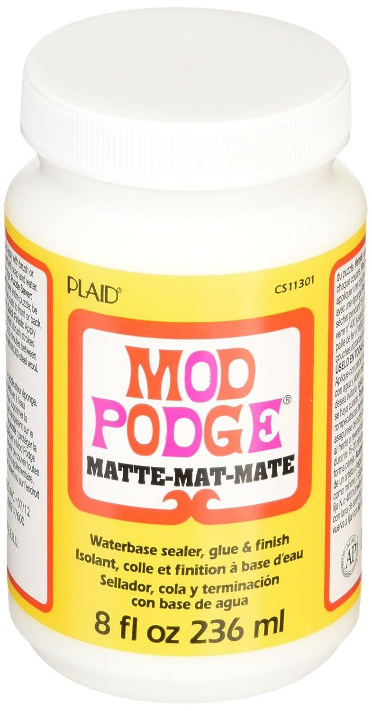 Mod Podge CS11301 8-Ounce, Matte Plaid Inc glue top coat craft