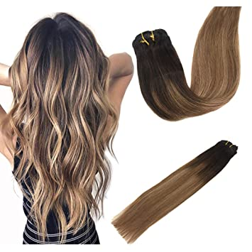 Amazon Com Labeh 18inch 100 Human Hair Clip In Extensions