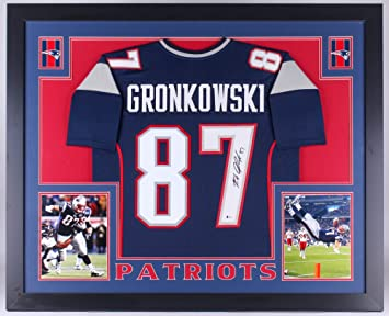 d31f7a183 Image Unavailable. Image not available for. Color  Rob Gronkowski Signed  Patriots 35x43 Custom Framed Jersey (Beckett COA)