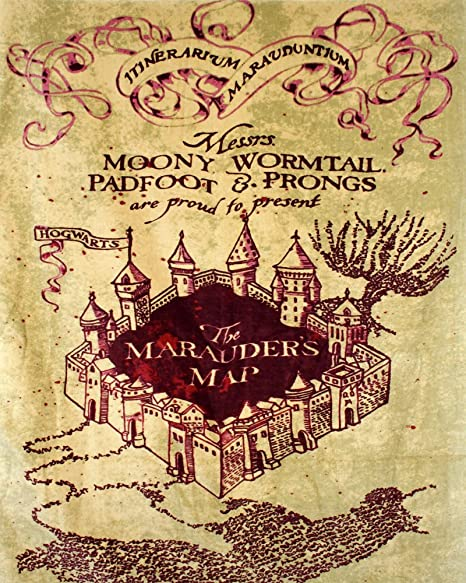 harry potter map METAL Wall Sign Plaque Vintage Retro poster art ...