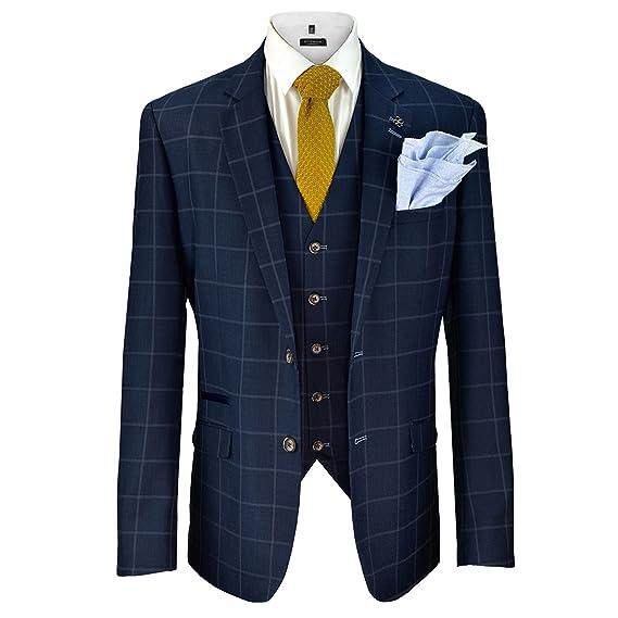 Cavani Mens Macy Wedding Blazer Waistcoat Trouser 3 Piece Suit ...