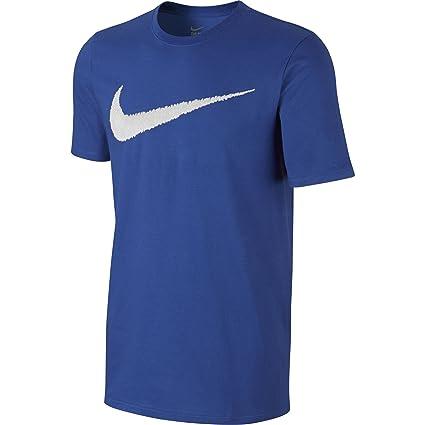Nike M NSW tee Hangtag Swoosh Camiseta de Manga Corta, Hombre, Azul (Game