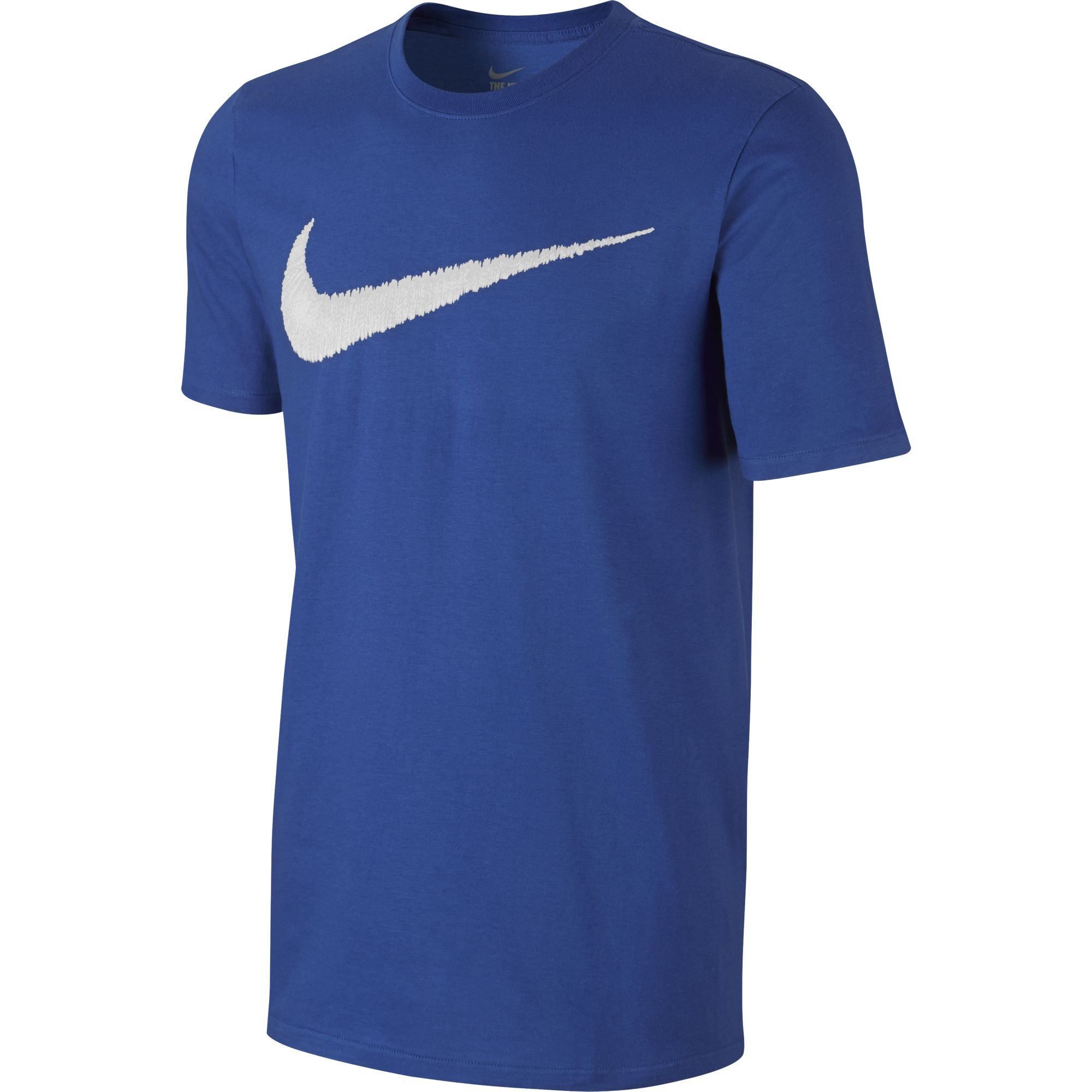 NIKE Sportswear Men's Hangtag Swoosh Tee, Game Royal/White, X-Small