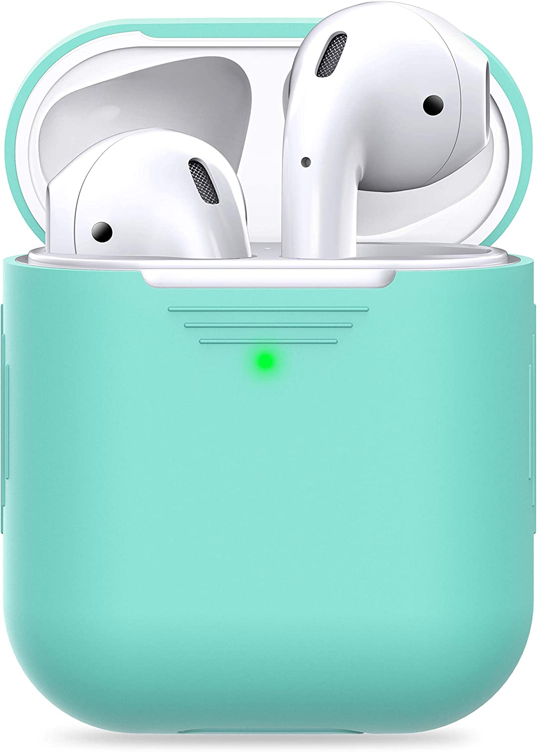 PodSkinz AirPods 2 /& 1 Case Front LED Visible Protective Silicone Cover and Skin Compatible with Apple AirPods Diamond Blue