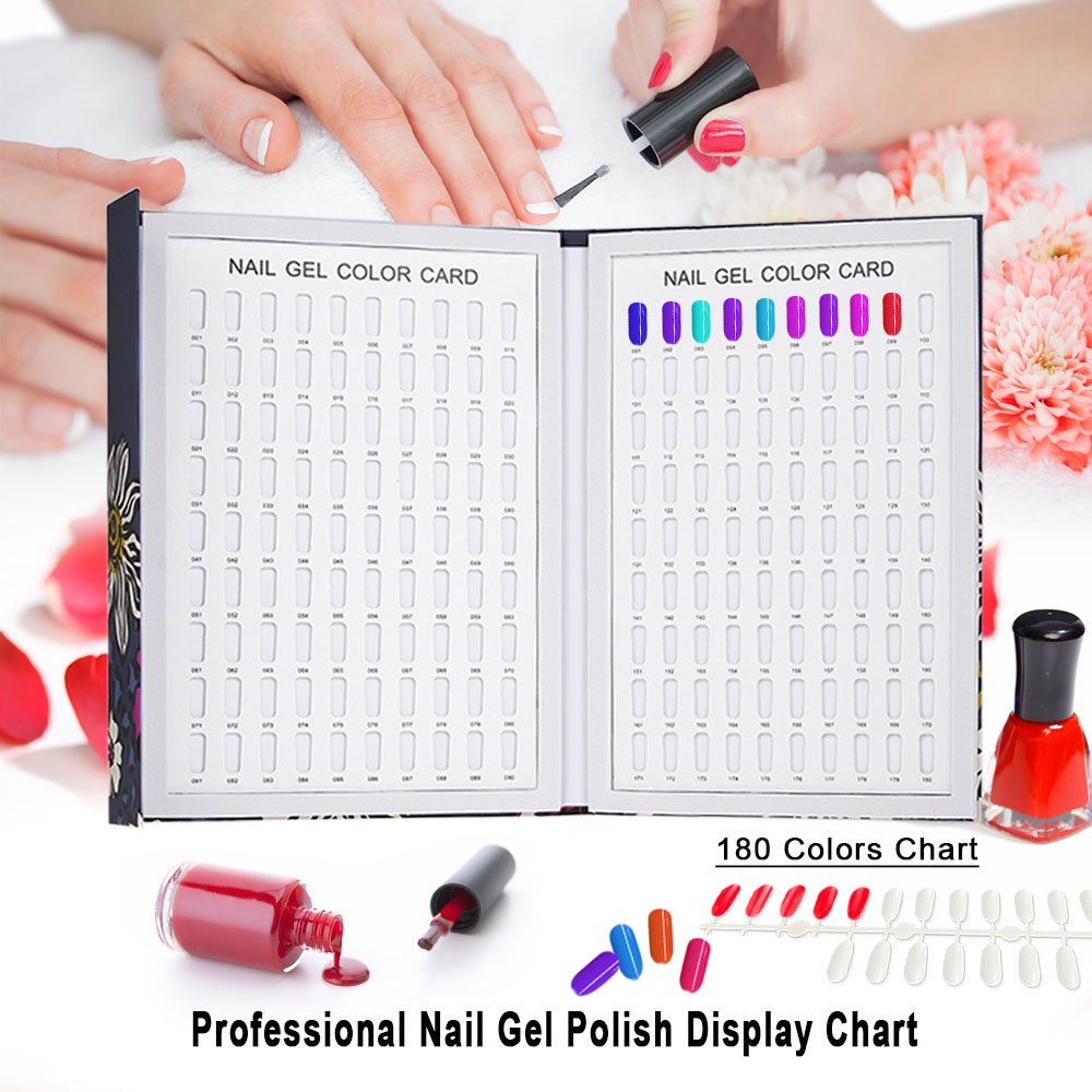 Amazon.com : Anself Professional 180 Colors Nail Gel Polish Display ...