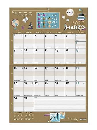 Calendario de pared 16 meses 2019-2020 español Ingenio Finocam ...