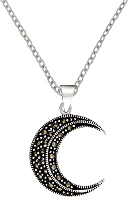 Sterling Silver Marcasite Pendant 19 mm 28 mm Pendants /& Charms Jewelry