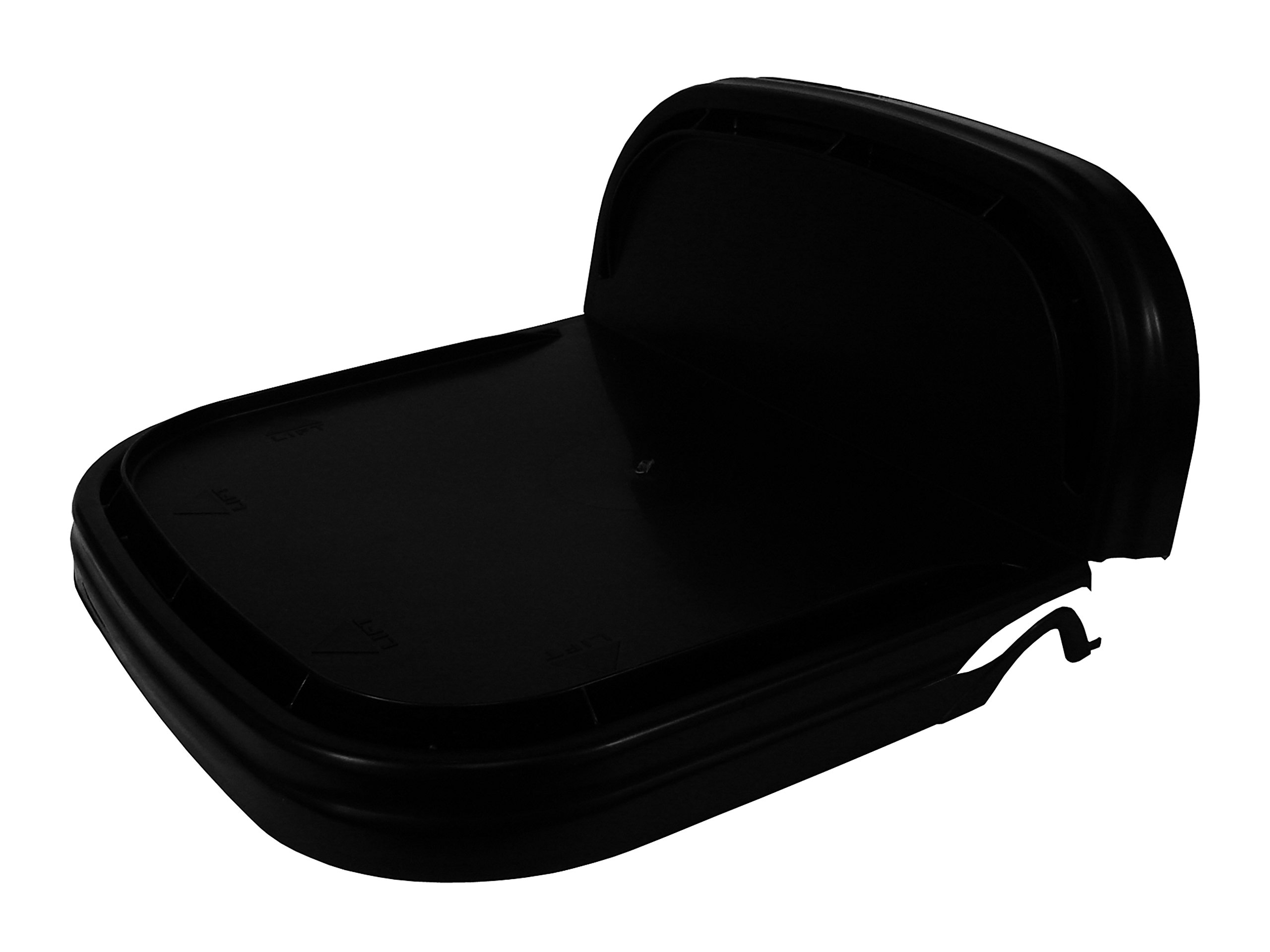 5.3 Gallon Black Rectangular Bucket/Pail with Hinged Snap Lid, 2 Pack by API Kirk Containers (Image #2)