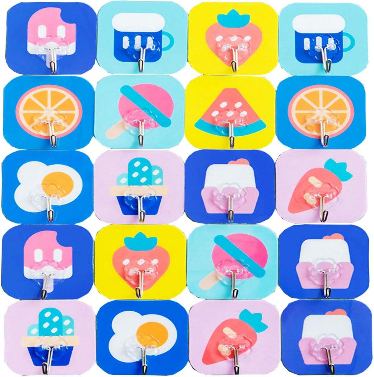 50PCS Ganchos Adhesivos,Biluer Ganchos de Pared Ganchos Ba/ño Ganchos Reutilizables para Cocina//Dormitorio//Oficina//Armario//Detr/ás de La Puerta