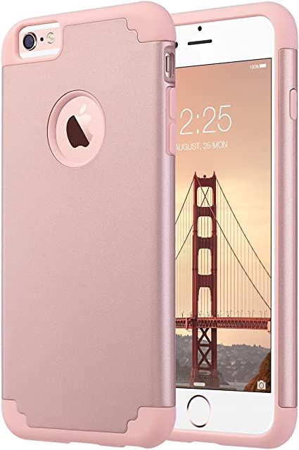 ULAK iPhone 6s Plus Caso, iPhone 6 Plus Funda Carcasa Slim Fit Hybrid Funda de Silicona para Apple iPhone 6s Plus/iPhone 6 Plus 5,5 Pulgadas (Rosa Dorado): Amazon.es: Electrónica