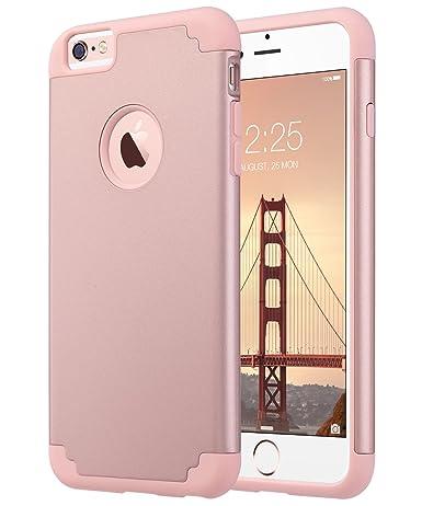 vasta selezione di 7c839 26c40 ULAK iPhone 6 Plus Case, iPhone 6S Plus Case, Slim Dual Layer Soft Silicone  and Hard Back Cover Anti Scratches Bumper Protective Case for Apple iPhone  ...