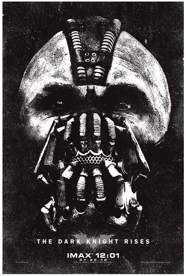 Bane Face The Dark Knight Rises Movie Poster Print Wall Decor 24x36 Inches Photo Paper Material Unframed