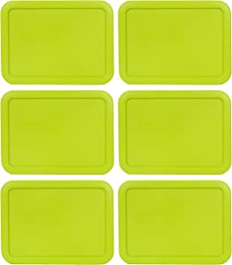 Pyrex 7210-PC 3 Cup Edamame Green Rectangle Plastic Food Storage Lid - 6 Pack