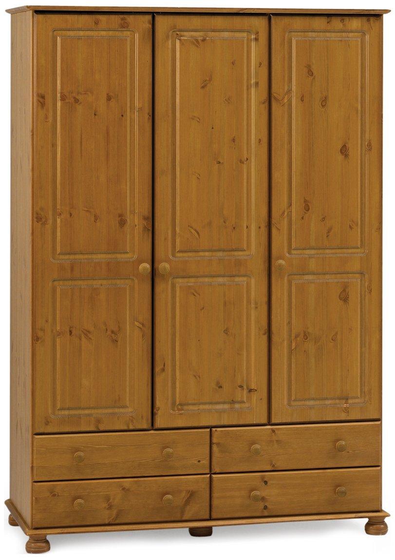 Solid Wooden Bedroom Furniture Solid Pine Bedroom Furniture Set 3 Door Wardrobe Drawers