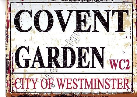 Pequeño cartel de metal para jardín de Londres, estilo ...