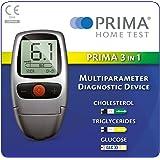 PRIMA 3 IN 1 SELF TESTING KIT FOR CHOLESTEROL, TRIGLYCERIDES, GLUCOSE