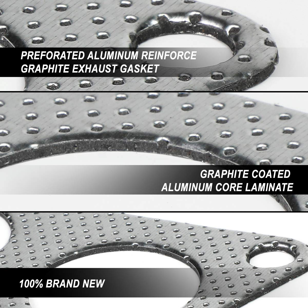Aluminum Exhaust Manifold Header Gasket Set for 13-19 Scion FRS Toyota 86 Subaru BRZ 2.0L