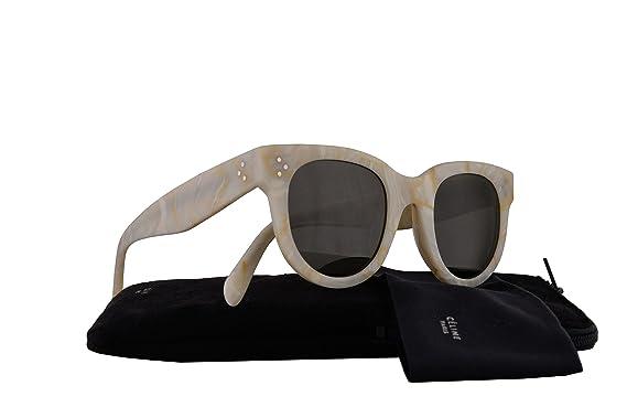 a8d17e7e74a7 Celine CL41053 S Baby Audrey Sunglasses White w Brown Lens 47mm 21JNR  CL41053S CL 41053 S  Amazon.co.uk  Clothing