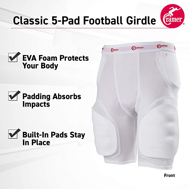 ramer Classic 5-Pad Football Girdle With Hip