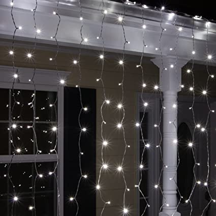 Amazon.com: Kringle Traditions Curtain Lights LED Curtain, String ...