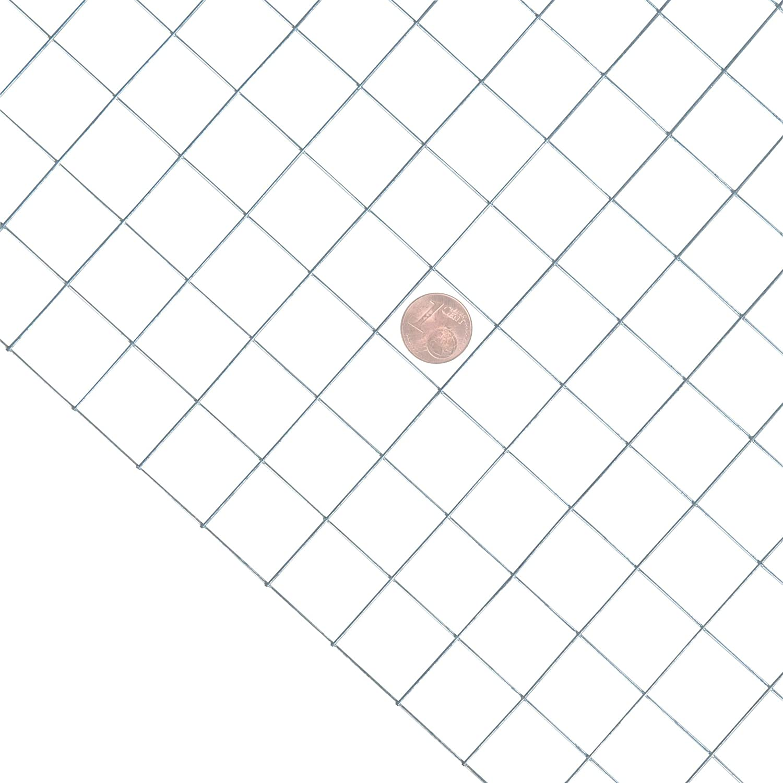 H/öhe 1,00 m 10 Meter 25 x 25 mm ESTEXO Volierendraht feuerverzinkt