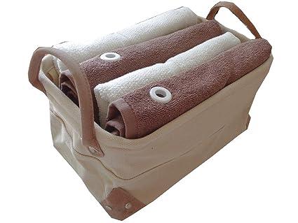Juego de toallas de mano (5 piezas) 2 x Toalla de mano (55 x 100 marfil, ...