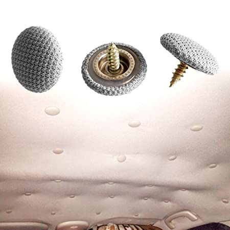 CNIKESIN 20 pcs A66 Techo Del Coche Reparaciones Sujetadores Clips Remaches de Interior Del Coche Sujetadores de Techo Paño Superior Abierto Cobertizo ...