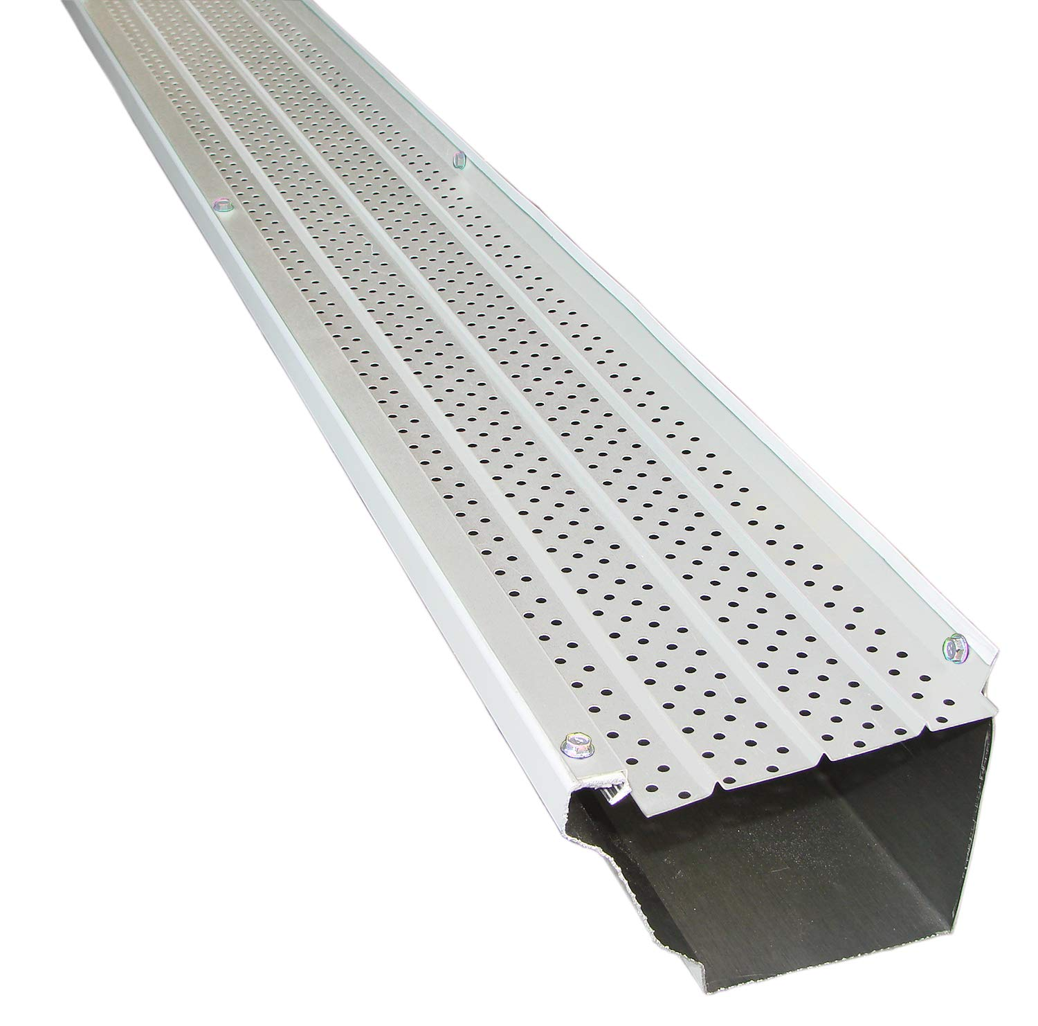 FlexxPoint 30 Year Gutter Cover System, White Commercial 6'' Gutter Guards, 102' by FLEXXPOINT