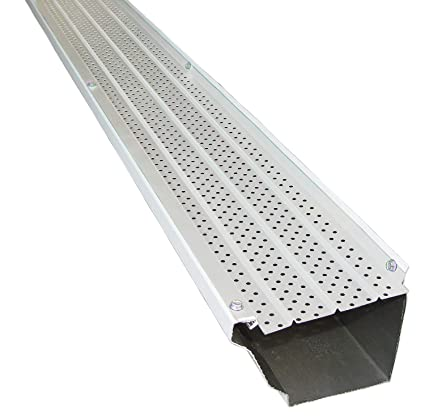 FlexxPoint 30 Year Gutter Cover System, White Commercial 6