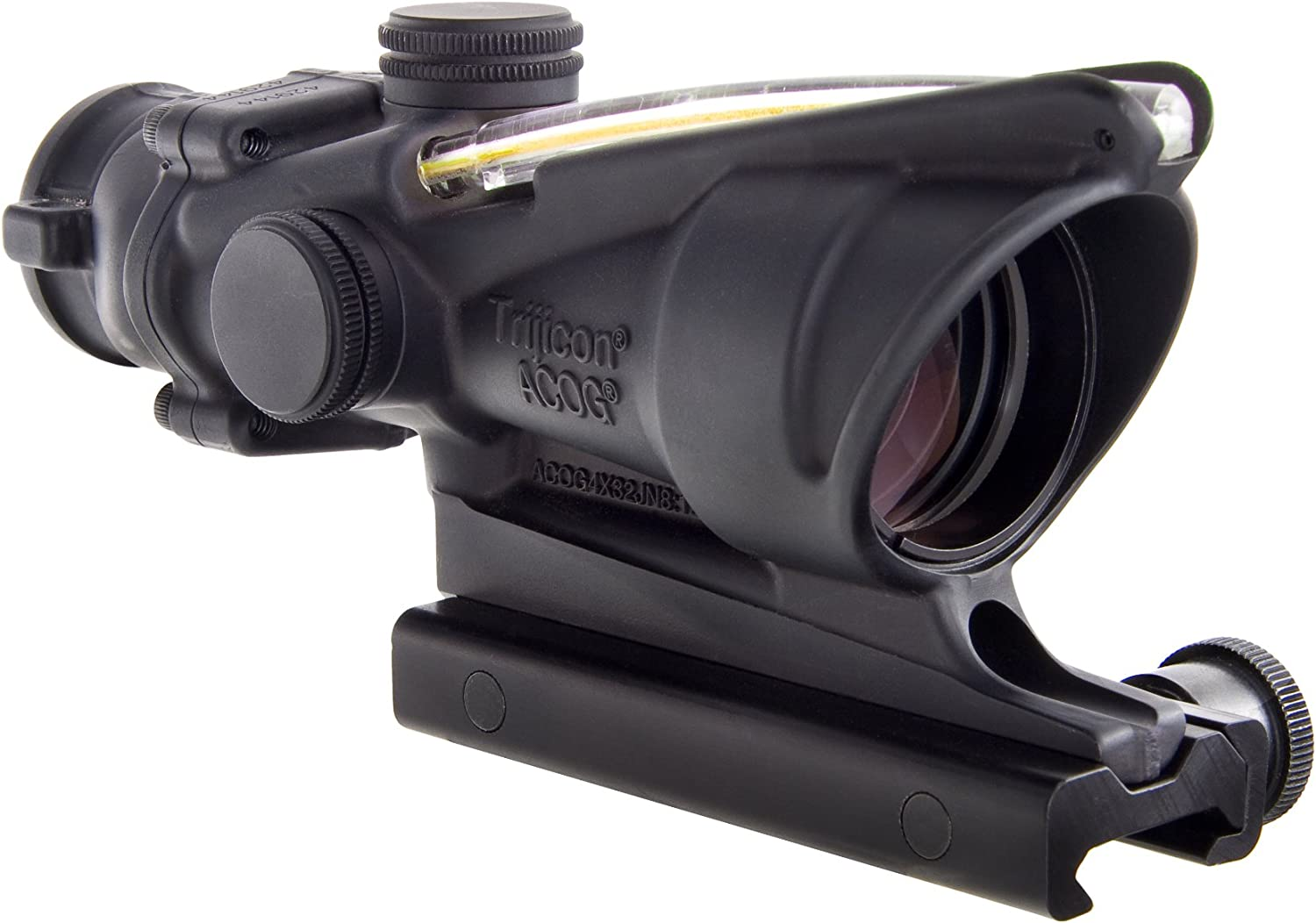 Trijicon ACOG 4 X 32 Scope Dual Illuminated Chevron .223 Ballistic Reticle, Amber